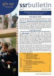 GFN-SSR ssrbulletin - Issue 11 - December 2007