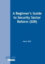 GFN-SSR - A Beginner's Guide to Security Sector Reform (SSR)