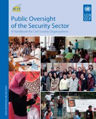 Public Oversight of the Security Sector - DCAF