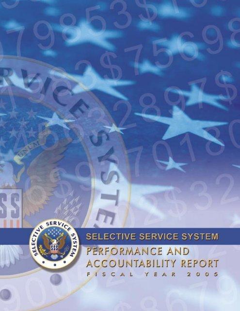 Performance Details - Selective Service System