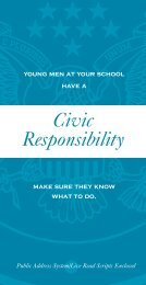Civic Responsibility - Selective Service System