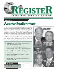 register - Selective Service System