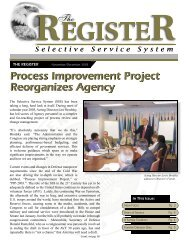 The Register - Selective Service System