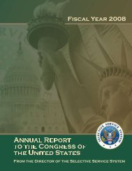 Annual Report - Selective Service System