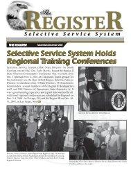 The Register November December 2001 - Selective Service System
