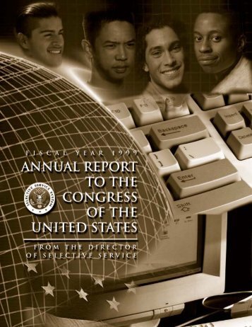 Annual Report to Congress for Fiscal Year 1999 (PDF) - Selective ...