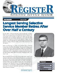 The Register-May June 2001 - Selective Service System