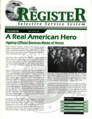 A Real American Hero - Selective Service System