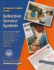 Teacher's Guide - Selective Service System
