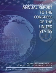 SSS Annual Report 2004FINAL.indd - Selective Service System