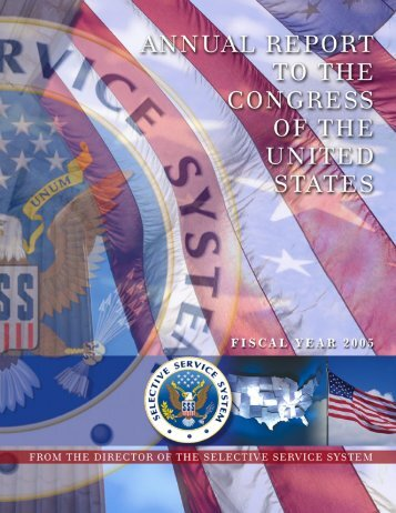 Annual Report to Congress for Fiscal Year 2005 (PDF) - Selective ...