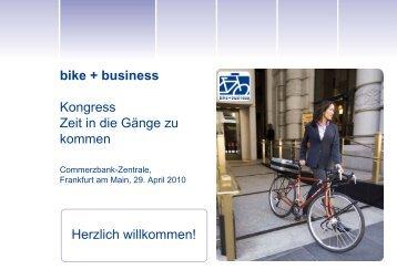 Eine Region kommt in die Gänge Frankfurt / Rhein ... - Bike + Business