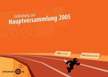 Hauptversammlung 2005 - DocCheck AG