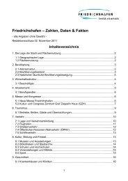 Friedrichshafen – Zahlen, Daten & Fakten