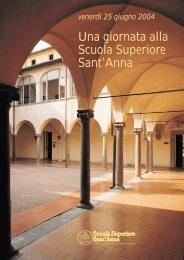Il percorso delle visite guidate - Scuola Superiore Sant'Anna