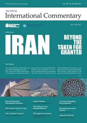 Iran Beyond the taken for granted - Scuola Superiore Sant'Anna