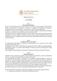 bando di concorso 2011-2012 - Scuola Superiore Sant'Anna
