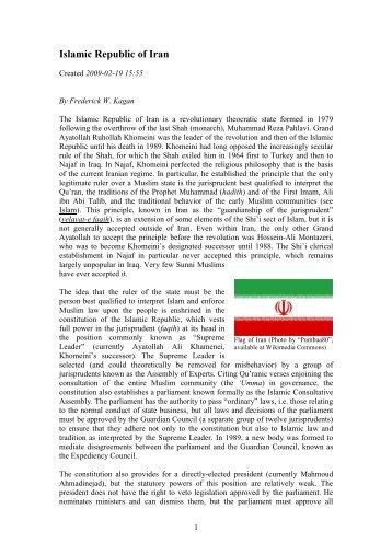 Islamic Republic of Iran Frederick W. Kagan
