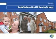 Housing Strategy 2009-2012 - South Staffordshire Council