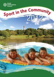 sport in the community brochure - South Staffordshire Council