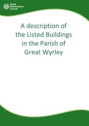 A description of the Listed Buildings in the Parish of Great Wyrley