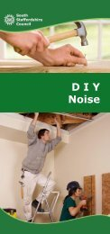 DIY Noise Leaflet - South Staffordshire Council