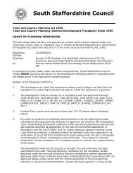 APPROVE Subject to Section 106 Agreement - South Staffordshire ...