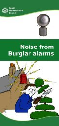Noise from Burglar alarms - South Staffordshire Council