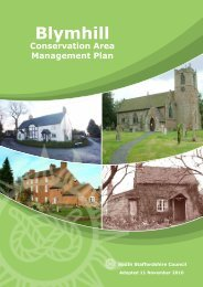 Blymhill Conservation Area Management Plan - South Staffordshire ...