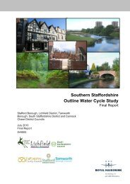 Southern Staffordshire Outline Water Cycle Study - Lichfield District ...