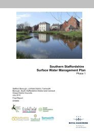 Southern Staffordshire Surface Water Management Plan Phase 1
