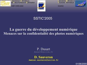 La guerre du développement numérique - sstic