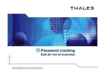 Password cracking - Sstic