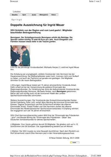 Doppelte Auszeichnung für Ingrid Meuer - Schießsportverein ...