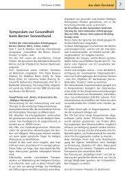 Symposium zur Gesundheit beim Berner Sennenhund - Schweizer ...