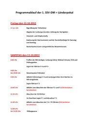 Programmablauf der 1. SSV-DM + Länderpokal Freitag den 12.10 ...