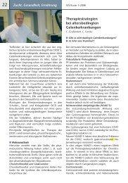 Therapiestrategien bei altersbedingten Gelenkerkrankungen - SSV