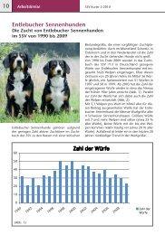 Entlebucher Sennenhunde, die Zucht im SSV von 1990-2009