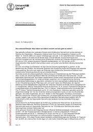 Klinik für Reproduktionsmedizin Zürich, 14 ... - Glenn und Duke