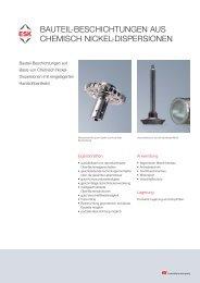 bauteil-beschichtungen aus chemisch nickel-dispersionen - ESK