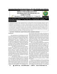 impact of globalization information technology in agriculture