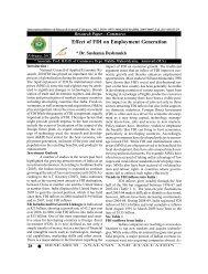 Effect of FDI on Employment Generation - international indexed ...