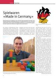 Spielwaren «Made in Germany» - D-Toy