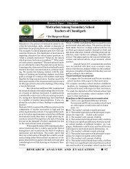 Motivation Among Secondary School Teachers of Chandigarh