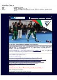 Microsoft Outlook - Memo Style - School Sport Victoria