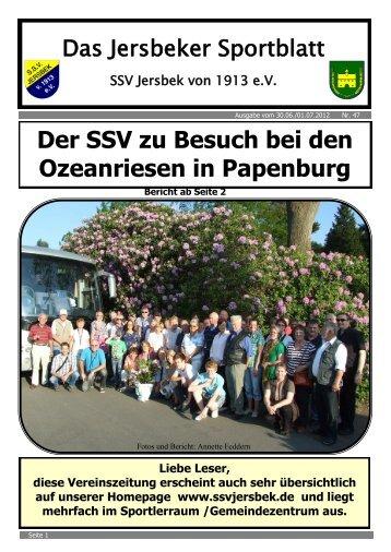 Ausgabe 06.2012 - SSV Jersbek