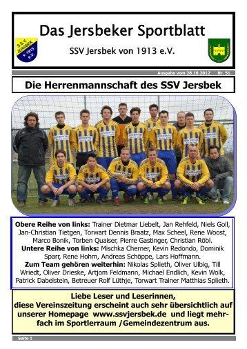 Ausgabe 10.2012 - SSV Jersbek