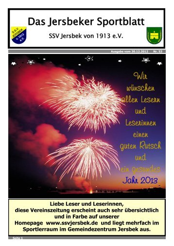 Ausgabe 12.2012 - SSV Jersbek