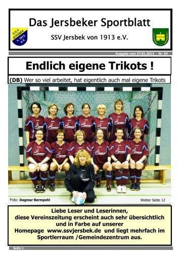 Ausgabe 01.2013 - SSV Jersbek