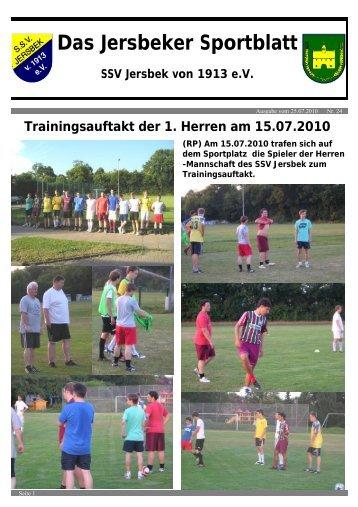 Das Jersbeker Sportblatt - SSV Jersbek